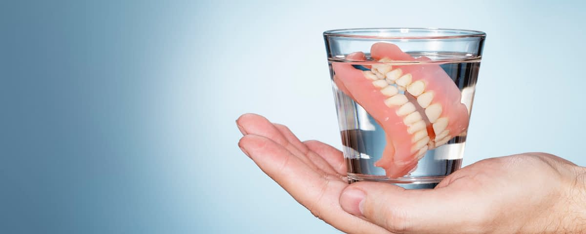 caring for dentures